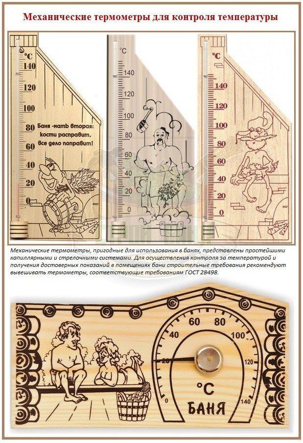 Оптимальные термометры в баню и в сауну