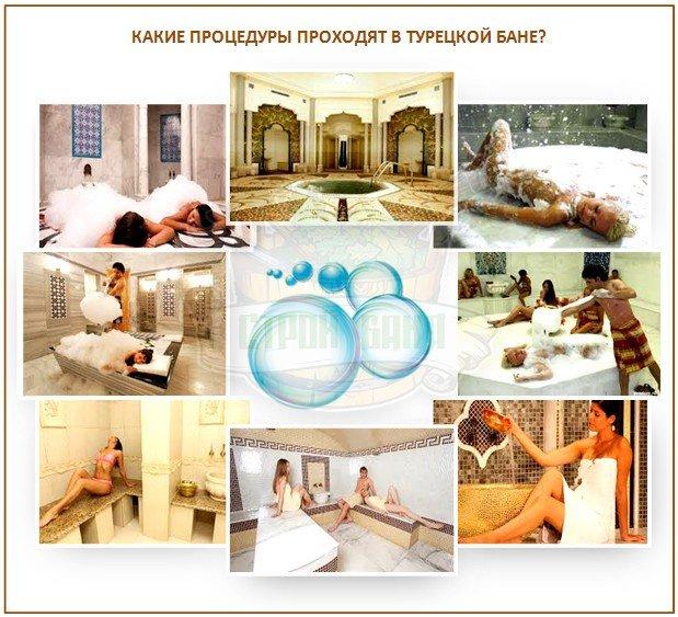 Процедуры в турецкой бане - хамаме