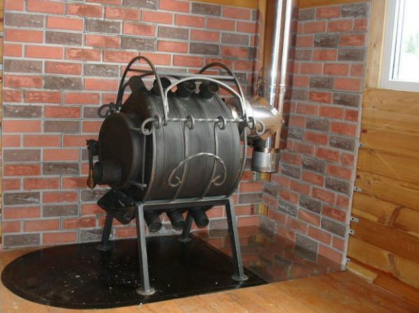 Печь Булерьян в гараже