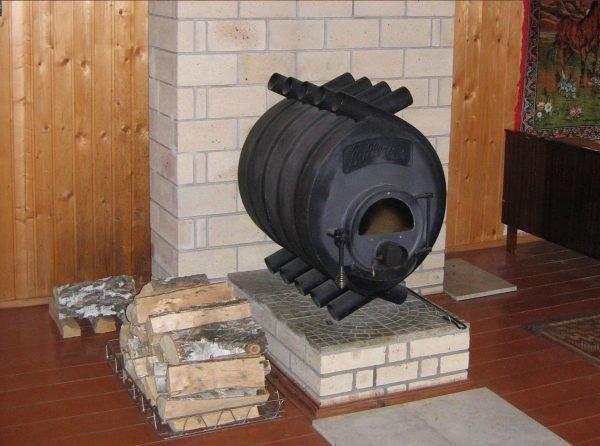 Установка печи Булерьян на возвышенную противопожарную опору