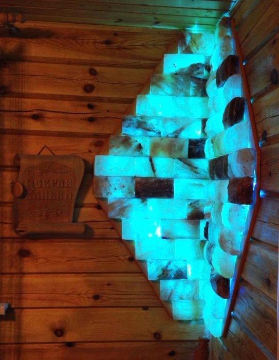 Декоративное панно из гималайской соли