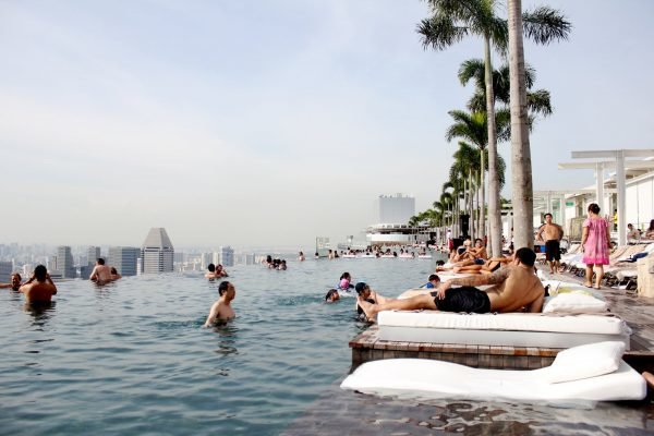 Бассейн в Marina Bay Sand Hotel