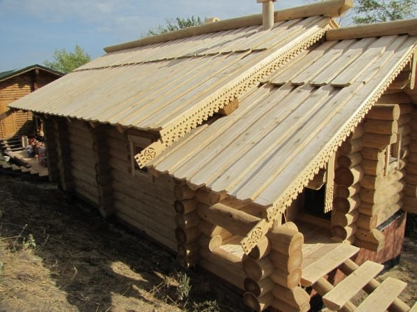 Крыша из тёса