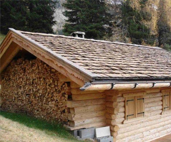 Крыша из щепы