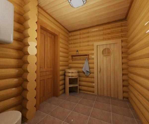 Блок-хаус в бане