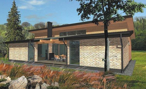 Баня с летней кухней: фото проекта