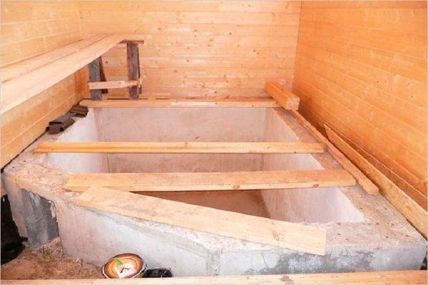 опалубка для чана в бане