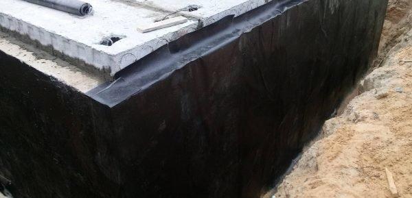 защита фундамента рубероидом и толью