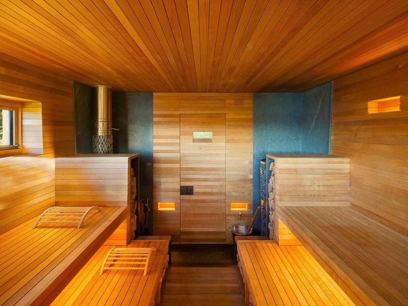 Фото примеров оформления бани в стиле хай-тек