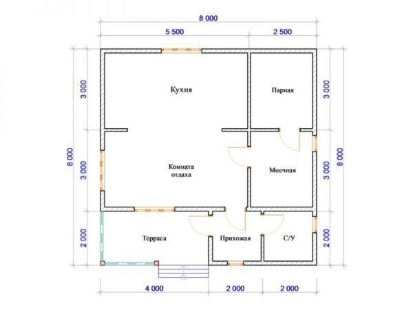 Возможный план бани