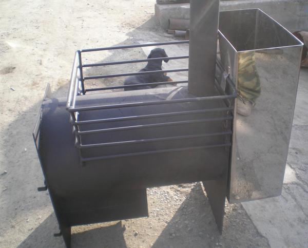 Готовая печь из трубы