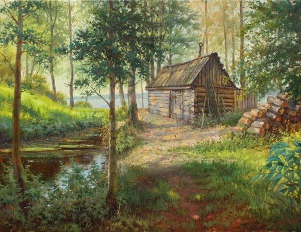 Баня в живописи Алексея Евдокимова