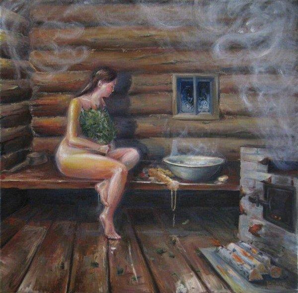 Картина Тютиной Екатерины «Баня»
