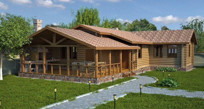 Проекты строительства бань с летней кухней: умный подход к строительству