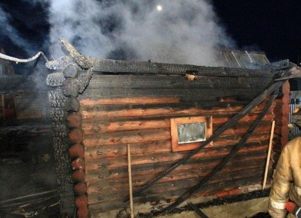 Сгоревшая баня