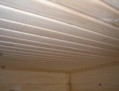 Как сделать потолок в бане из бруса: пошаговая инструкция