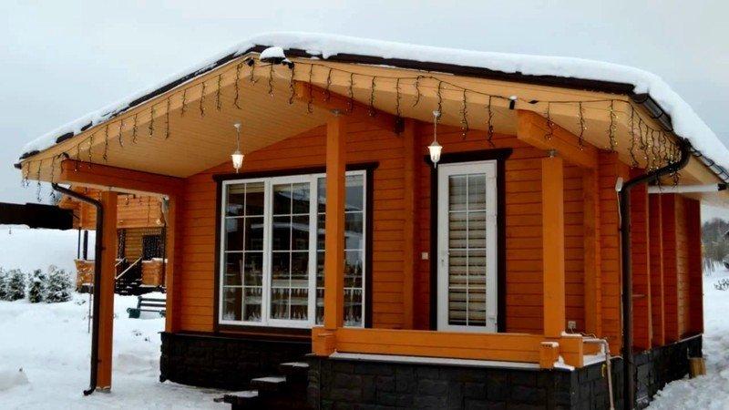 Проекты гостевого дома с баней из бруса