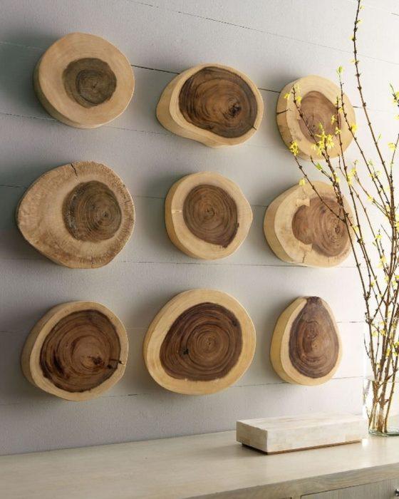 Спилы дерева как элемент декора