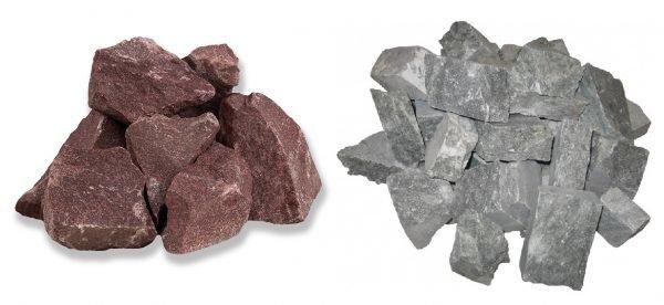 Малиновый кварцит и талькохлорит