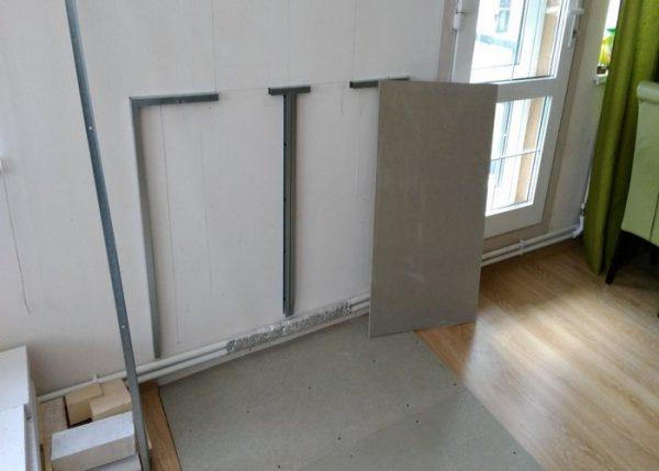как крепить минерит к деревянной стене