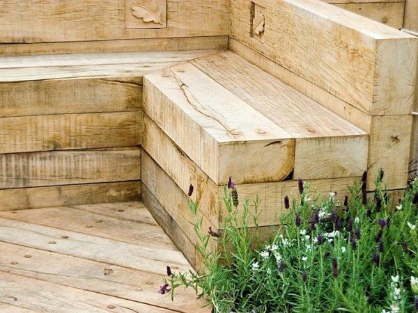 Садовая мебель из остатков бруса
