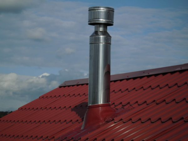 Дымоход из крыши