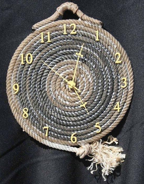 Часы из жгута
