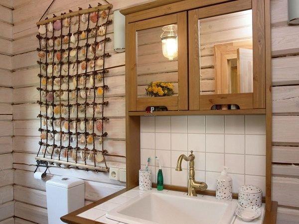 Жгут в интерьере ванной