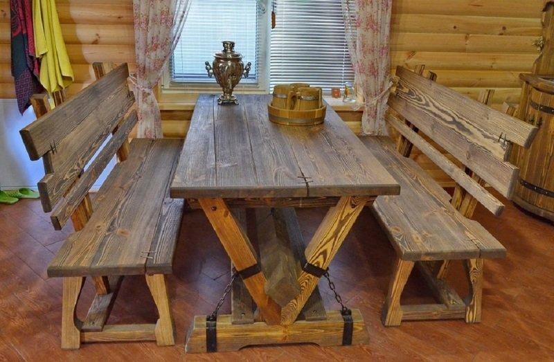 Деревянные столы в баню своими руками: подборка фото