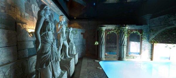 Сауна в греческом стиле
