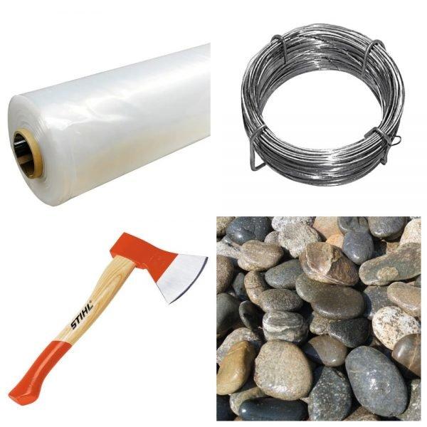 Материалы, которые понадобятся, чтобы сделать баню в походе