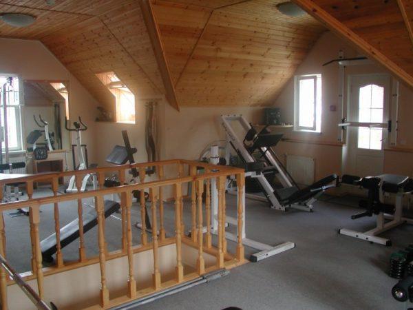 Комната в бане на втором этаже