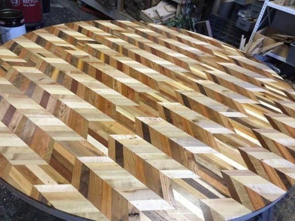 Столешница из деревянной мозаики