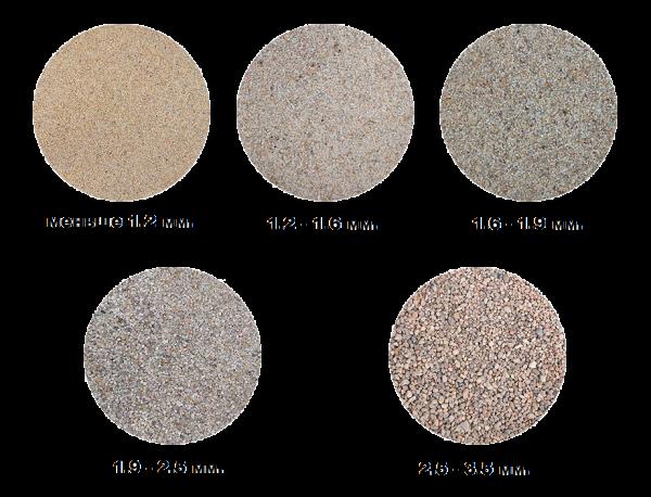 Размеры песка