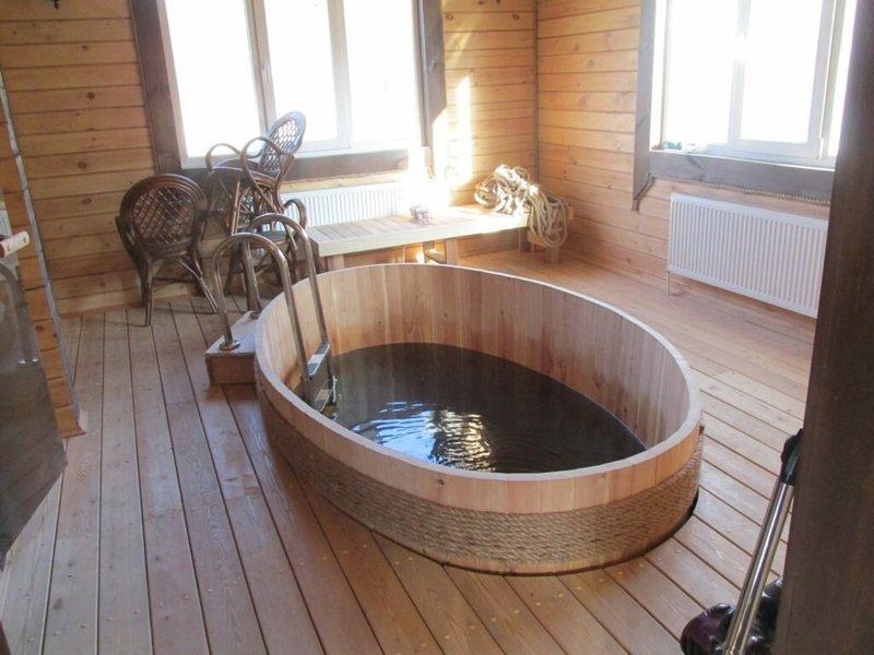 Мини-бассейны для бани: описание и фото