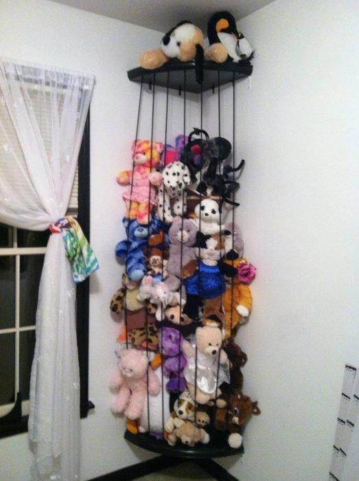 Конструкция для хранения мягких игрушек