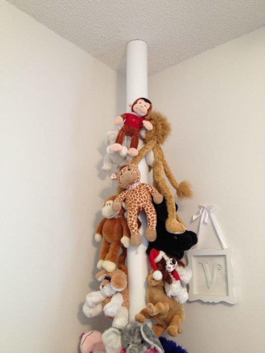 Простой способ хранения мягких игрушек