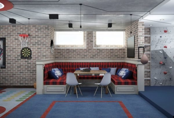 Игровая в подвале частного дома