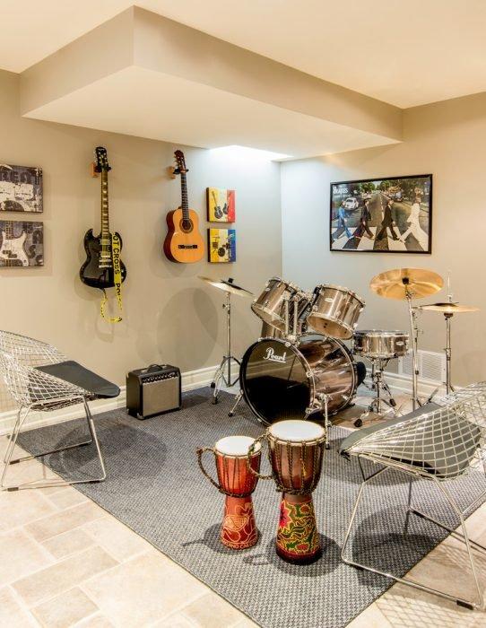 Музыкальная студия в подвале частного дома