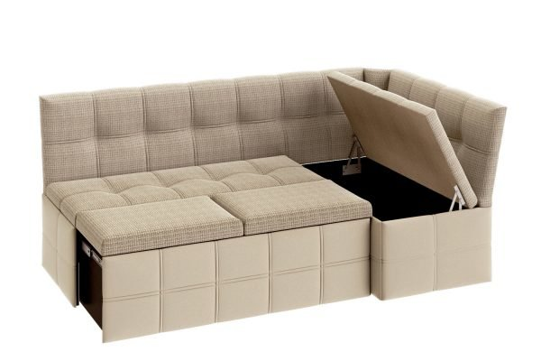 Бежевый кухонный диван Икеа на кухню