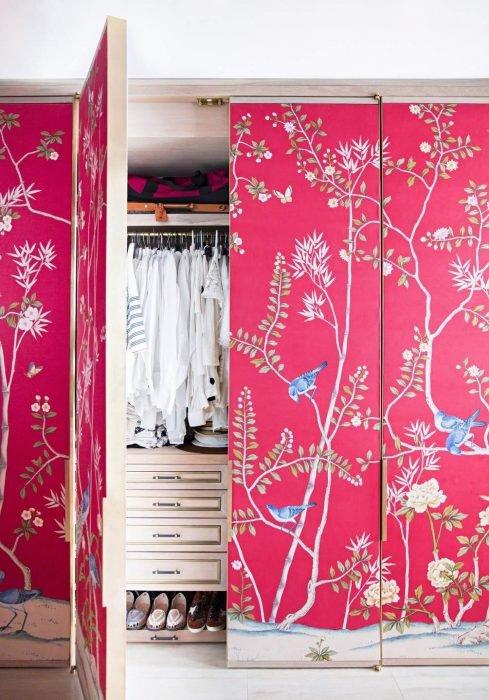 Декор дверей шкафа