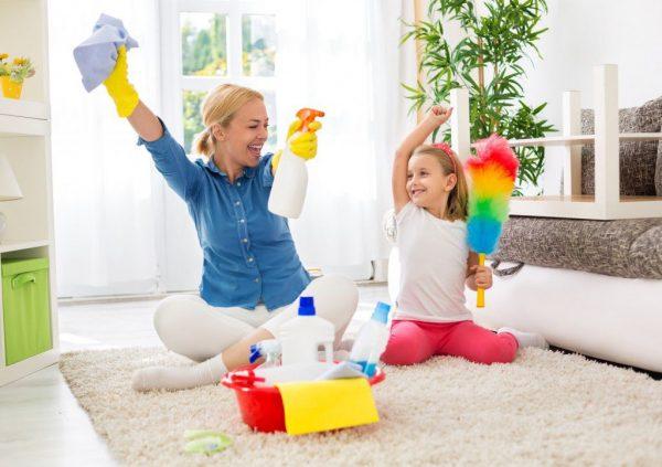 Уборка с ребёнком