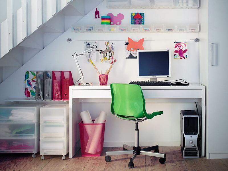 Как необычно украсить рабочий стол подростка: модные решения на фото