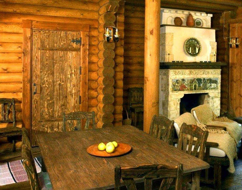 Баня в деревенском стиле: оригинальные варианты обстановки на фото