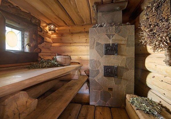 Баня в деревенском стиле