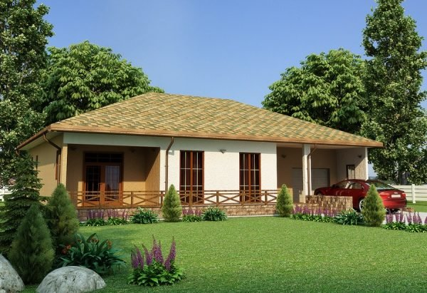 Одноэтажный дом с участком