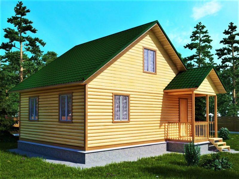 Проект дачного домика размером 6 на 8 кв. м