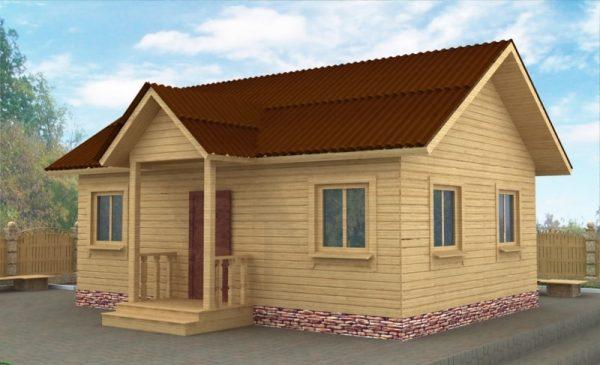 Каркасно-щитовой дачный домик 6х8 кв. м