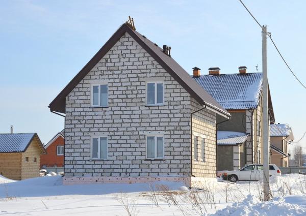 Дачный дом из газобетонных блоков