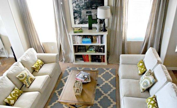 Два дивана в маленькой гостиной